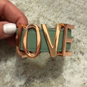 "BCBG buckle""LOVE"" bracelet"